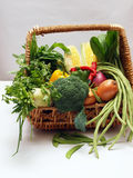 Vegetables. A variety of vegetables in a basket Royalty Free Stock Photos