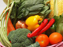 Vegetables. A variety of vegetables in a basket Royalty Free Stock Image