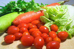 Vegetables. Various vegetable species as a condiment Royalty Free Stock Photography