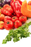 Vegetables. Various vegetables on white background Stock Photos