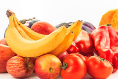 Vegetables. Various vegetables on white background Stock Photo