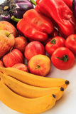 Vegetables. Various vegetables on white background Royalty Free Stock Image