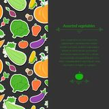 Vegetables vector background Stock Photos
