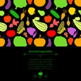 Vegetables vector background Royalty Free Stock Photo