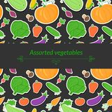Vegetables vector background Royalty Free Stock Images