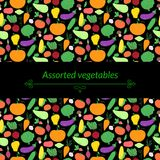 Vegetables vector background Stock Image