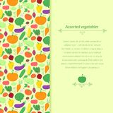 Vegetables vector background Stock Photography