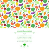 Vegetables vector background Royalty Free Stock Photography