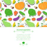 Vegetables vector background Royalty Free Stock Photos