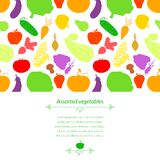Vegetables vector background Royalty Free Stock Image