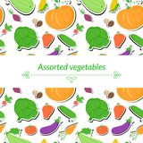 Vegetables vector background Stock Images