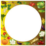 Vegetables vector background with place for text, healthy food t Stock Photos