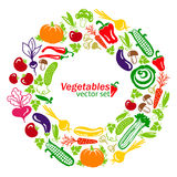 Vegetables vector colored icons Royalty Free Stock Image