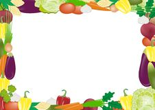 Vegetables vector frame Stock Photo