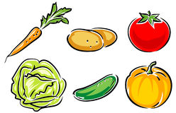 Vegetables Vector Illustration Royalty Free Stock Photos