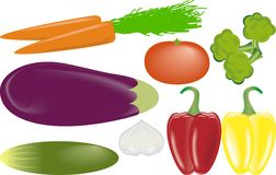 Vegetables vector set Royalty Free Stock Photo