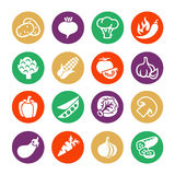 Vegetables vector web icon set Royalty Free Stock Images