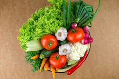 Vegetables, vegetable arrangement, a bowl with vegetables. Royalty Free Stock Photo