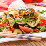 Vegetables vegetarian with wild rice Royalty Free Stock Photography