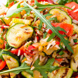 Vegetables vegetarian with wild rice Stock Photos