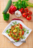 Vegetables vegetarian with wild rice Stock Image