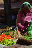 Vegetables vendor at local market. Jaisalmer. Rajasthan. India Stock Photos