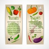 Vegetables vertical banners Stock Photo