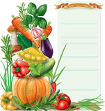 Vegetables vertical composition Stock Photo
