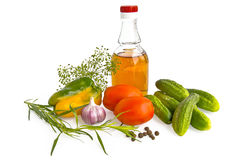Vegetables with vinegar Royalty Free Stock Image