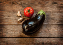 Vegetables on vintage wood background - autumn harvest Royalty Free Stock Photos