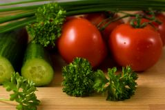 Vegetables vor salad Royalty Free Stock Photography