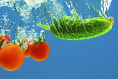 Vegetables in water Stock Photography