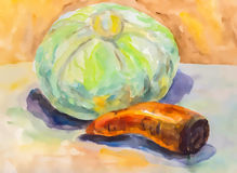 Vegetables watercolor Stock Photo