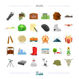 Vegetables, weapons, transportation and other web icon in cartoon style.sports, computer, education icons in set Stock Photography