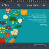 Vegetables web banner Royalty Free Stock Image