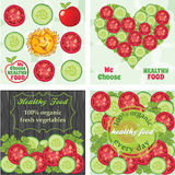 Vegetables web banners, healthy food banners Royalty Free Stock Photos