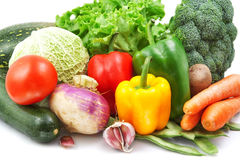 Vegetables  on white Royalty Free Stock Images