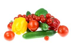 Vegetables on white. stock images