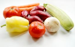 Vegetables on white background Stock Photo