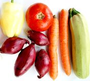 Vegetables on white background. Fresh vegetables on a white background Royalty Free Stock Image
