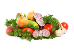 Vegetables on white background Royalty Free Stock Photos