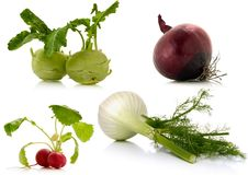 Vegetables on white background Royalty Free Stock Photography