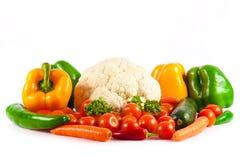 Vegetables  on a white Stock Photos