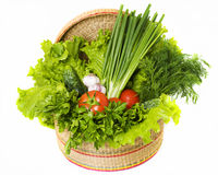 Vegetables on the white background Stock Photo