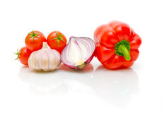 Vegetables on white background close-up Royalty Free Stock Photography