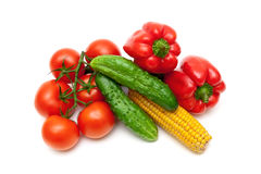 Vegetables  on white background close up Royalty Free Stock Photography
