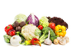 Vegetables  on a white background Royalty Free Stock Photos