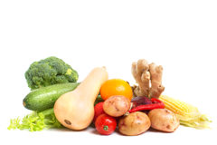 Vegetables  on a white background Stock Image
