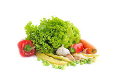 Vegetables on the white background. Fresh vegetables on the white background Royalty Free Stock Photo