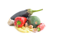 Vegetables on the white background. Fresh vegetables on the white background royalty free stock photography